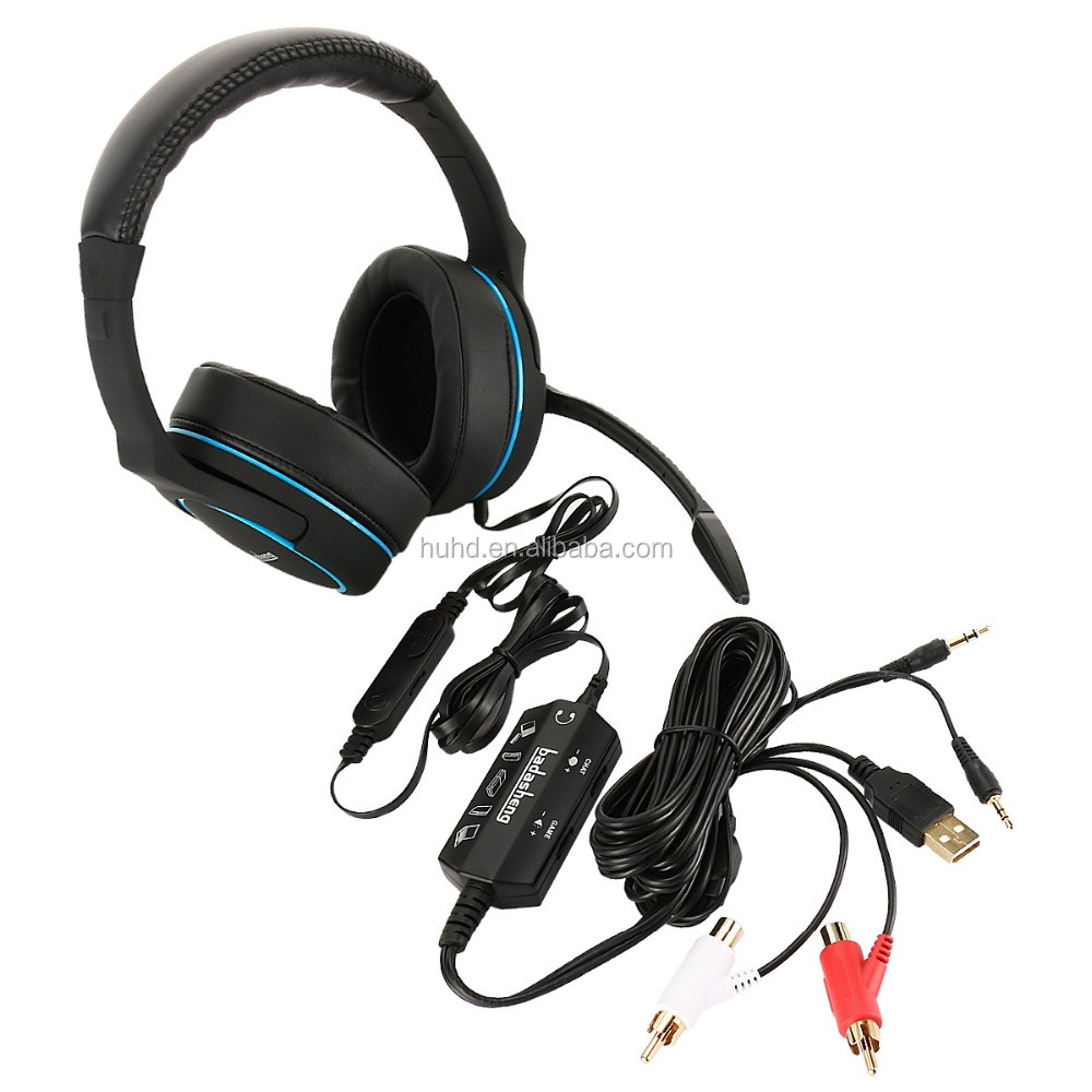 Supper bass big earcups wearing comfortable overhead gaming mic headphone for PS4 Xbox one PC tablet cell phone