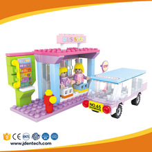 AUSINI shop creator road construction plastic toy block for adults