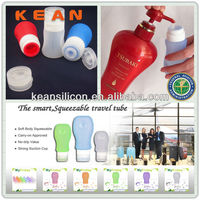 Cosmetic Bottles And Jars/Refillable Outdoor Squeezable Silicone Travel Tube Container Novelty