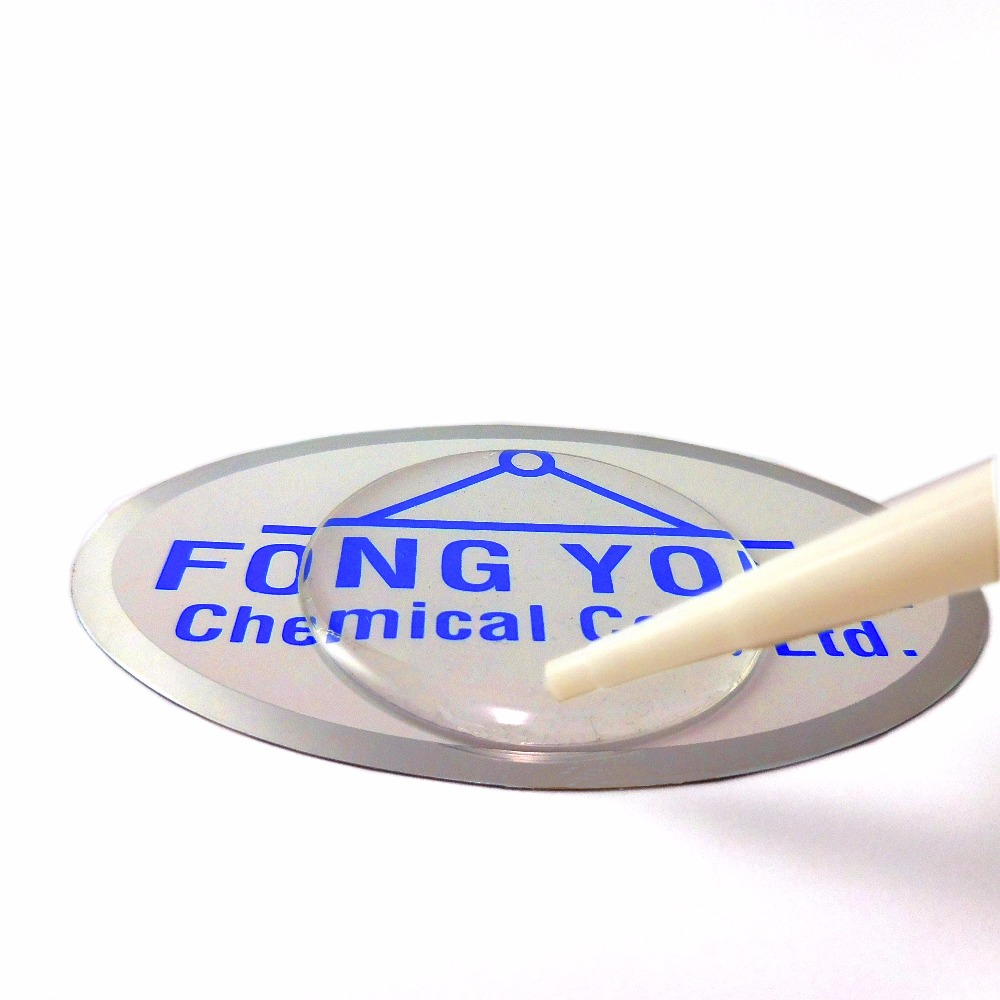 Low price flexible type no yellow 1:1 water crystal clear polyurethane resin and hardener urethane sticker resin for 3D doming