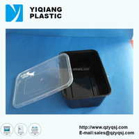 650ml YQ386 microwavable black plastic food container