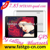 android 3g tablet pc 7.85 inch MTK8389 quad core tablet Android 4.3 GPS Bluetooth FM