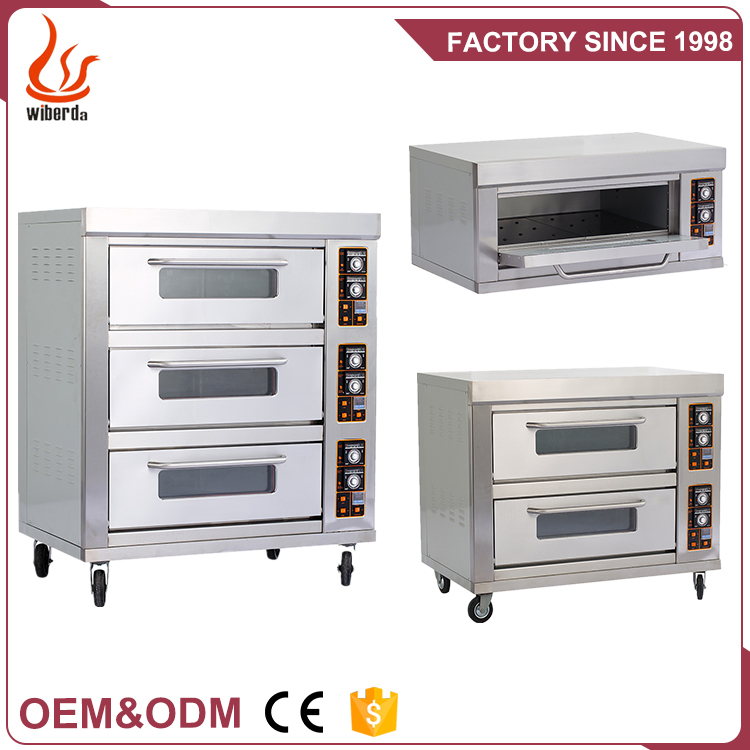 Junjian Tripe-Layer Six-Tray Free Standing Electric Pizza Industrial Oven Machine