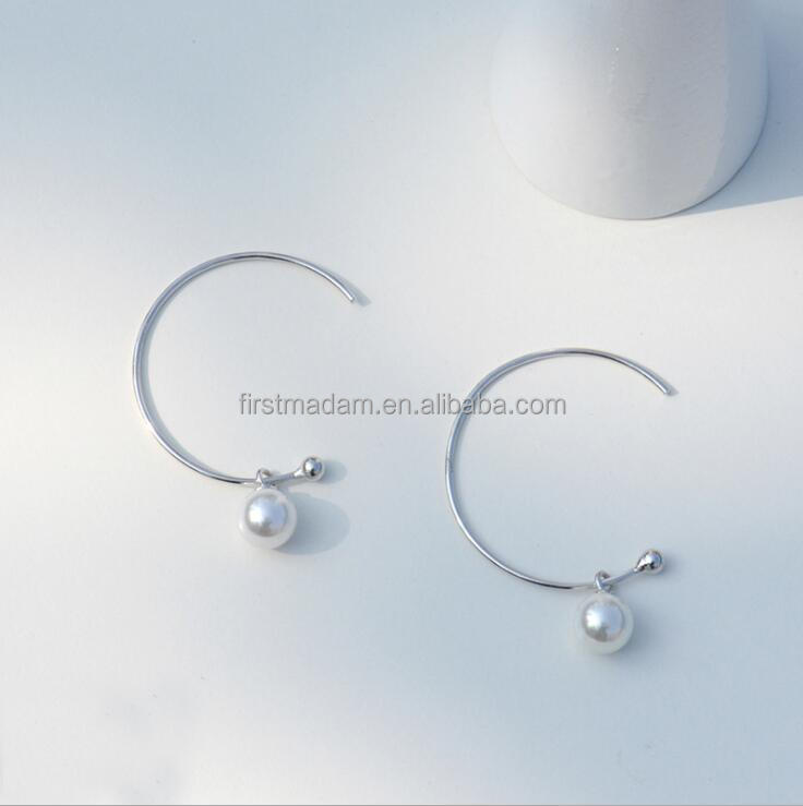 Brass Hoops Latest Design Of Pearl Stud Animal Earrings
