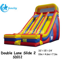 Giant Inflatable Slide With Dome Roof For Sale , Kid's Inflatable Slide In Durable PVC Tarpaulin