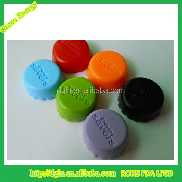 Good Quality Candy Color Soft Silicone Beer Bottle Crown Cap