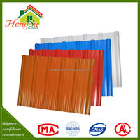 Lowest price fire resistance upvc material roof tile