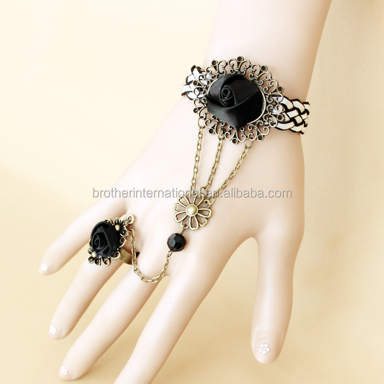 New lace bracelet with ring <strong>accessories</strong> for women