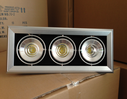 Large Power LED Grille lamp for Showroom China Factory Adjustable Mini Trim LED grille spotlight