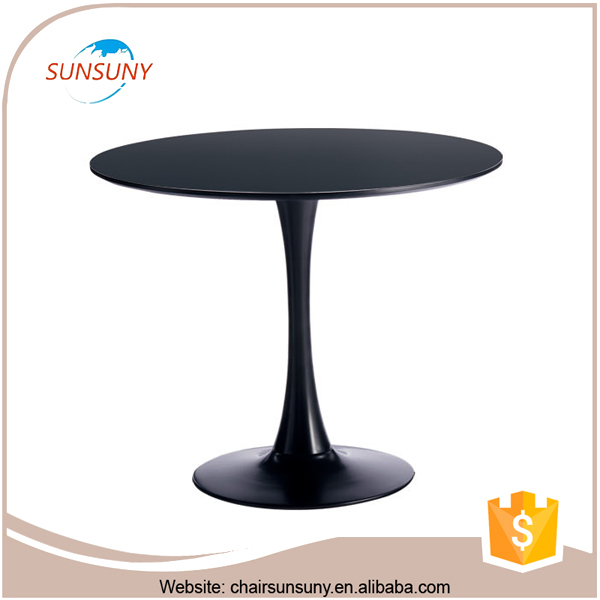 China high quality furniture plastic single leg dining table