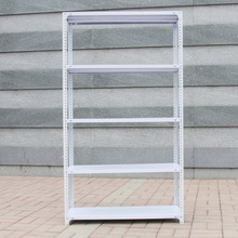China Best Selling Steel Slotted Angle Storage Light Duty Rack With MDF Shelves