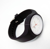 Silicone female watch 40mm plastic case Japan movt CE & RoHS certified female watches