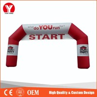 Inflatable arch, event inflatable arch finish line and start