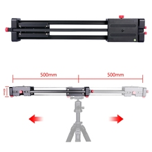 photography aluminium 100cm double slide wheel video film shooting camera slider dolly