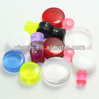 stock uv acrylic saddle ear plugs gauges body piercing jewelry