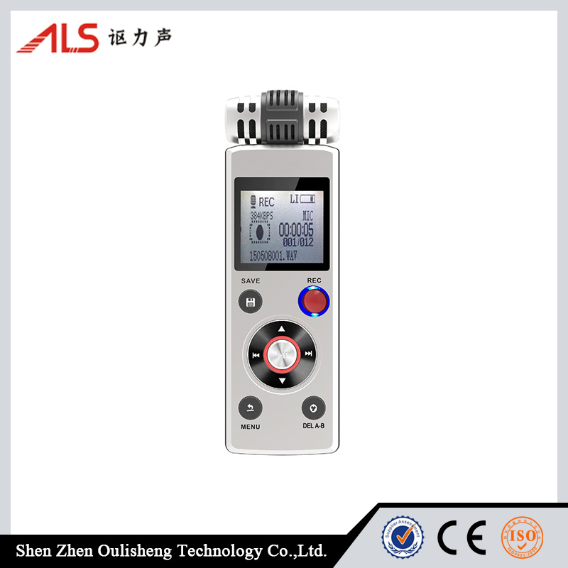 6622 Portable Rechargeable 8GB Digital Voice Recorder with MP3 Player