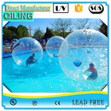 Top quality customized human sized hamster ball/walk on water inflatable ball,inflatable water ball for sale