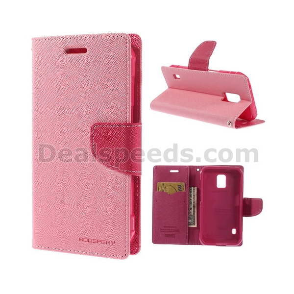 Mercury Fancy Diary Leather Case for Samsung Galaxy S5 Active (AT&T) G870A