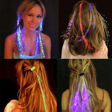 Promotional Halloween Christmas Wedding Party Decoration Led flashing Hair