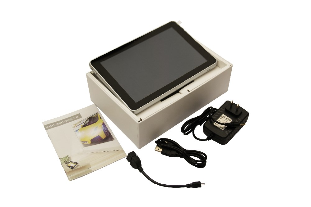 D07 8 inch Android Tablet Led Mini Projector RK3188 Smart LED Projector 1GB 8GB WIFI Bluetooth 4.0 Battery Built-in