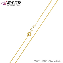 42329 xuping fashion necklace high quality 14K gold color for women gril gold necklace jewelry promotion gift