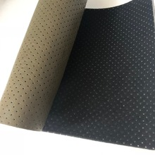 PU punched perforated microfiber leather for car seat
