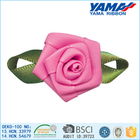 Professional produce beautiful pink ribbon stage decoration flowers for stage
