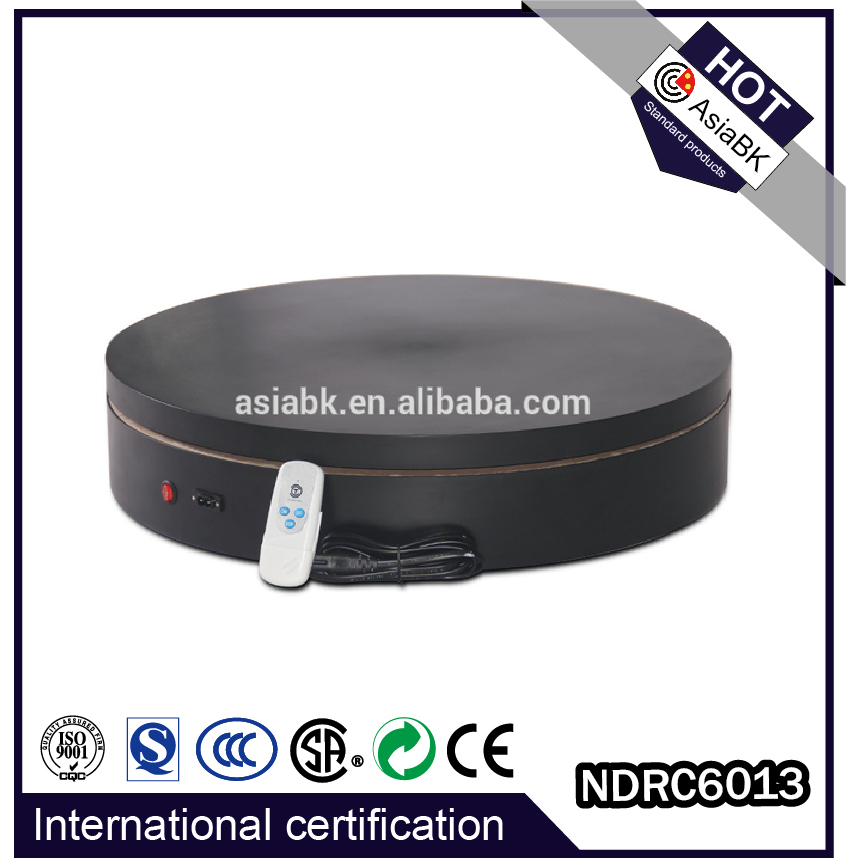 internationl CE/FCC 110V 220V rotary disc rotating flexible stage for Yishion/Gucci/Baleno/Dior display stand