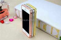 Alibaba Luxury Rhinestone Bling Diamond Bumper Case for iPhone 5 5S, Crystal Diamond Metal Aluminum Bumpers