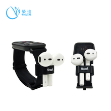 대 한 AirPod 무선 Earphone Watch Band 홀더 Anti Lost 실리콘 Case