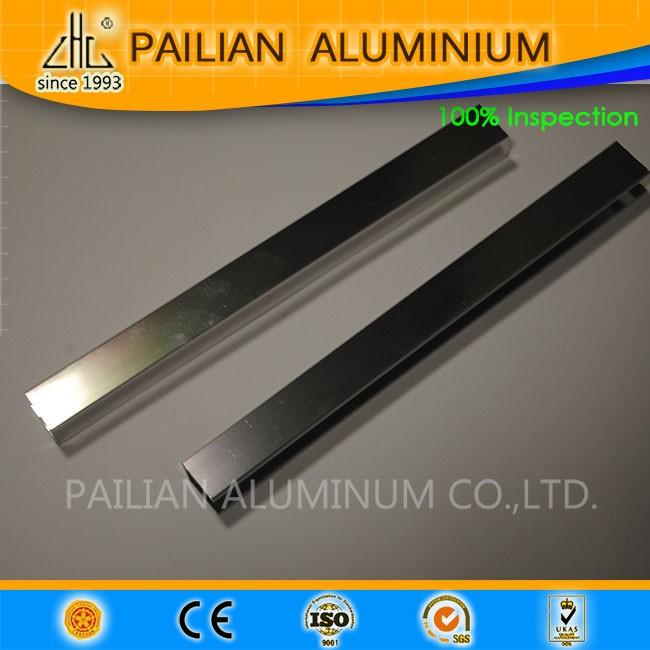 Factory Extrude  profil6063 6463 Mirror polised  ZHL aluminium U channele for glass frame use in Shower room aluminium profile