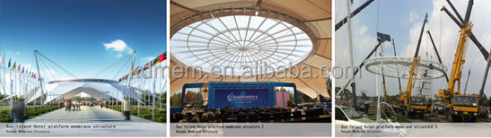 membrane structure stadium building cover awning