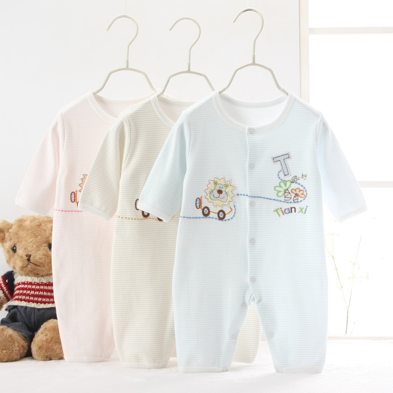 100%Cotton Infant Rompers Spring Summer Newborn Baby Clothing Set  Baby Boy Girl Clothes Roupas De Bebe  For 0-12monthes
