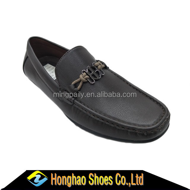 Best hot sale men shoes in 2017,guangdong manufacture pu buckle loafer