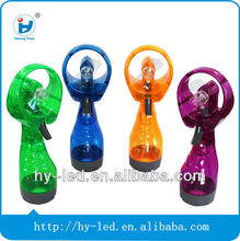 2014 New Battery operated Summer Portable Handy Mini water mist fan
