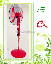 high quality red color the latest solar usha rechargeable fan 12v 16'' 18inch