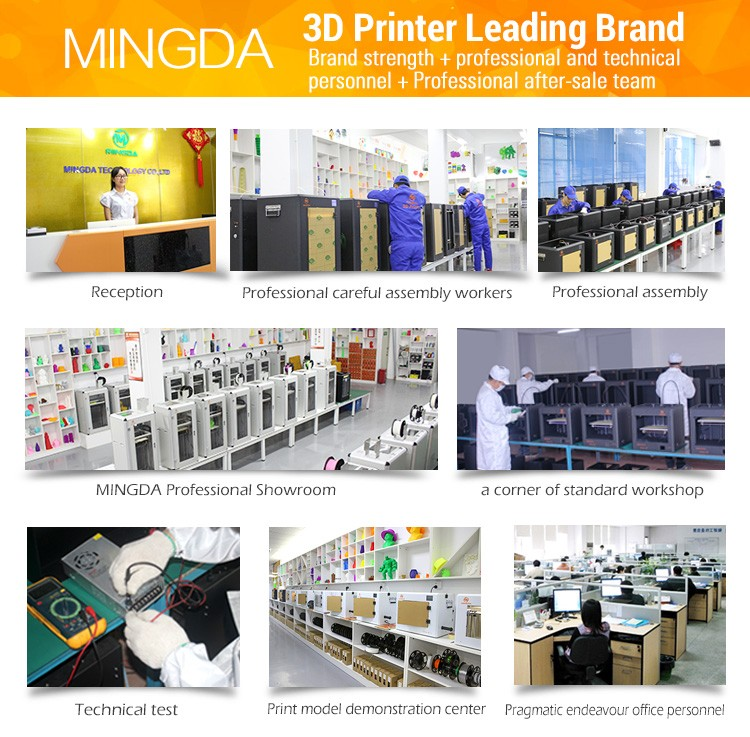 2017 NEWEST MINGDA 6L 3d printer for large print volume , manufacturer 3d machine price