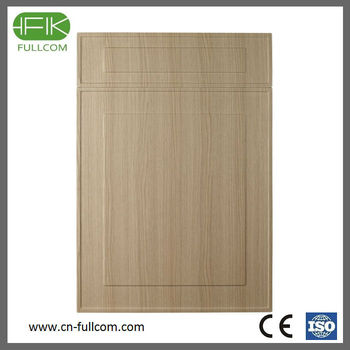 Wood grain pvc kitchen cabinet door buy acrylic kitchen for Wood grain kitchen doors