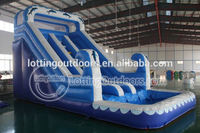 2016 Crazy jumping sport adult size inflatable water slide
