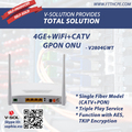 4GE+WIFI+ RF Port Analog Signal Input Gpon Onu Catv with 300Mbps Wireless Single Fiber Input WDM