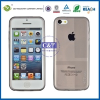 C&T Popular fashion s shape tpu case cover for iphone 5