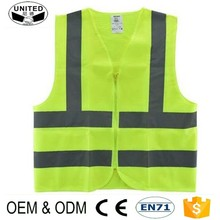 2017 wholesale 100% polyester custom reflex vest for night safety