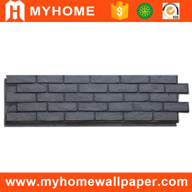 Polyur thane pu mousse panneau ext rieur parement d coratif faux brique pierr - Panneau brique decorative ...