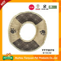 Round soft dog bed donut
