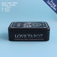 Rectangle metal tin box for playing cards or poker Tin box packaging with A variety of colors