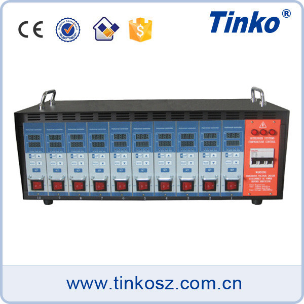 Tinko 10 zone injection mold temperature controller made in china no logo HRTC-10A