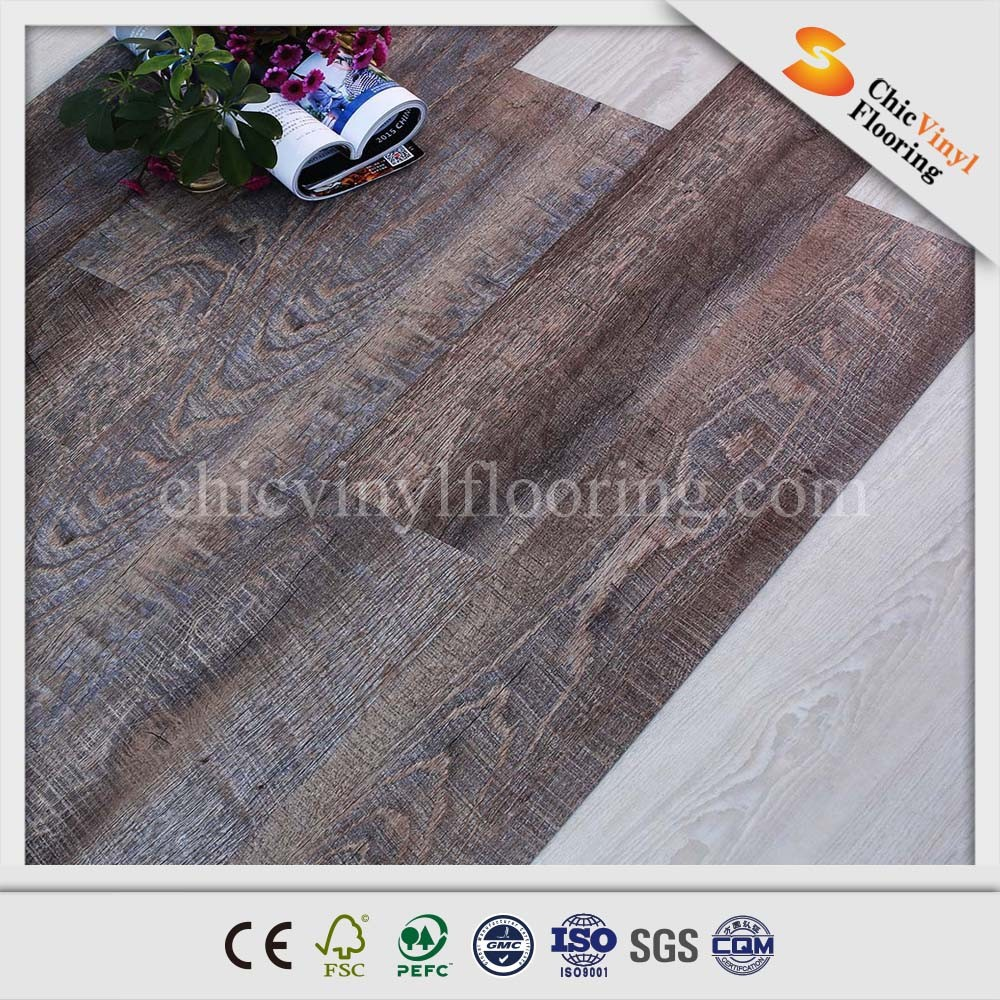 2014 hot sale best price recycled imitation wood pvc floor