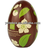 Easter egg tin box for chocolate, candy packing