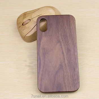 mobile phone accessories carbonized walnut Handmade Wood Cover Case for iPhone X