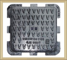 casting iron parts DUCTILE IRON HIDRAULIC SQUARE MANHOLE COVER CLASS UNI EN 124